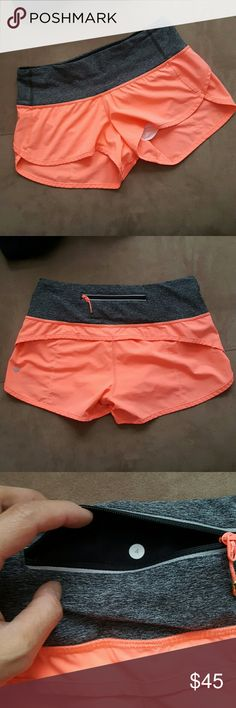 Lululemon Run Speed Shorts As pictured. Small ink marks as seen in 5th photo. Overall great pre-loved condition. lululemon athletica Shorts