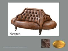 Chesterfield Fauteuil</br>Newport Old Look Bruin