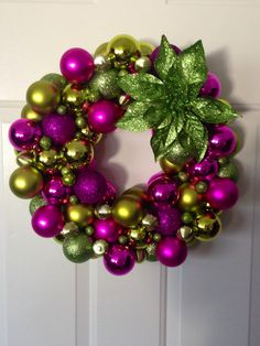 Christmas wreath for the pink and green enthusiast!