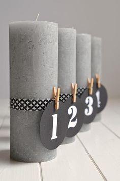 Puristischer Adventskranz ohne Tannenzweige (DIY mit Kerzen und Maskingtape) ähnliche tolle Projekte und Ideen wie im Bild vorgestellt findest du auch in unserem Magazin