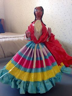 Vintage Mexican paper mache doll by DollsAroundTheWorld on Etsy