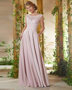 6e0859909cfda Light pink lace gown with beading #theclothingcove #morilee #morileedress  #formaldresses #eveningdresses. The Clothing Cove