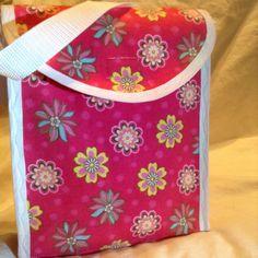 Pink Floral Snack Bag by BeccasjamsandCrafts on Etsy https://www.etsy.com/listing/218264766/pink-floral-snack-bag