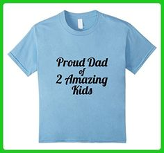 Kids Father's Day Present Shirt Dad 2 Amazing Kids Son Daughter 6 Baby Blue - Relatives and family shirts (*Amazon Partner-Link)