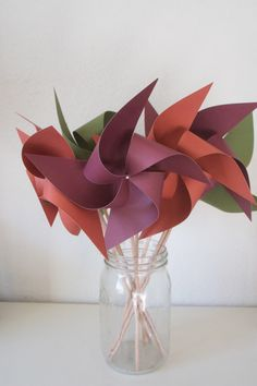 Fall Centerpiece fall table centerpiece Thanksgiving Decorations Fall Color Decorations - 6 large Pinwheels (Custom orders welcomed) Unique Party Favors, Wedding Favors, Wedding Decorations, Table Wedding, Wedding Ideas, Woodland Theme Wedding, Instead Of Flowers, Fall Table Centerpieces, Greenery Decor