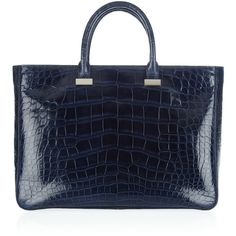 The Row Small Day Luxe alligator tote found on Polyvore