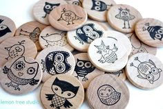 Wooden Matching Memory Game -- HOOT Edition. $17.00, via Etsy.