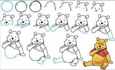 Draw Whinney the pooh
