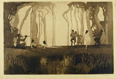 Sydney Long - Pan, 1898, Art Gallery of New South Wales, Sydney, gift of J.R. McGregor 1943