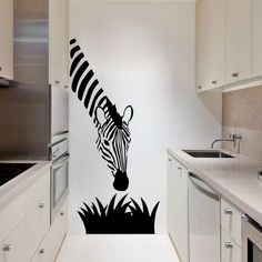 Zebra Wall Stickers Decoration For Your Kitchen/Bedroom Wall Art Diy Home Decor