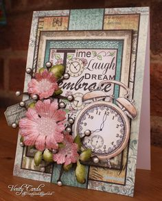 Card made using Once Upon a Time collection from Heartfelt Creations. Flowers are made from Majestic Morning Flowers from Heartfelt Creations.