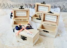 Will you be my Bridesmaid gift box, maid of honor,personalized ring box, hand created and designed to perfectly mach your wedding theme,rustic wedding, rustic wedding decor.