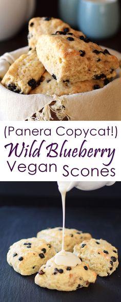 Vegan Wild Blueberry Scones Recipe (Panera Copycat!) - dairy-free, egg-free, several options