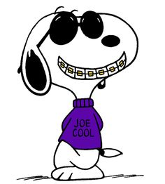 Snoopy - Joe Cool Wearing his Famous Gold Braces