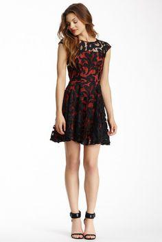 Greylin Lace Cap Sleeve Dress $49