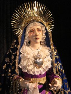 """This is the way of love, to survive only in perpetual loss. - Do Nguyen Mai, from """"The Forever Way,"""" Ghosts Still Walking Mary Costume, Madonna Costume, Religious Icons, Religious Art, Sagrado Corazon Tattoo, Catholic Art, Catholic Relics, Mama Mary, Our Lady Of Sorrows"""