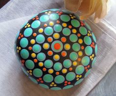 "Mandala ~ Energy ~ Meditation Stone Hand Painted River Rock ""TABITHA"" Chakras Dot Painting by WrenStones on Etsy"