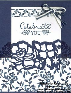 Handmade card using Stampin' Up! products - Floral Phrases Stamp Set, Suite…