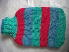 Hot water bottle knitted cover by CandyKnit on Etsy, $13.00