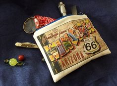 Father's Day DIY zipper bag, printed with a vintage postcard with TAP.  Transfer Artist Paper by Lesley Riley.  Simple, spectacular low-sew gift that Dad will love. #TAPPROJECT  Repin, please!
