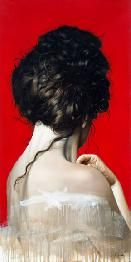 Galería los Caracoles Artista: Fernando Oliveri Título: Mujer Tamaño: 50 x 100 cm Técnica: Oleo sobre tela Año: 2015