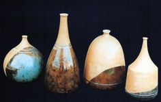 "Buket Gurel  / Tur/  ""Bottles"" 9 Eylul Universty Ceramic Symposium 1997 (Erdinç Bakla archive)"