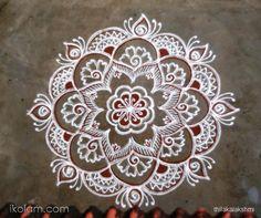 Kolam and Rangoli designs Rangoli Designs Latest, Latest Rangoli, Rangoli Designs Diwali, Rangoli Designs Images, Kolam Rangoli, Beautiful Rangoli Designs, Padi Kolam, Rangoli Borders, Rangoli Patterns