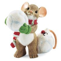 Charming Tails® Collectible Snowball Mouse