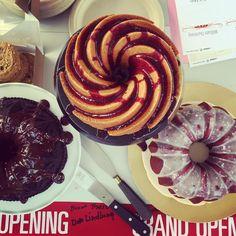 Nordic Ware в Instagram: «Ribbon cutting ceremony on the Bundt Bridge in our hometown today. We baked three Bundts for the occasion--lemon blueberry, red velvet and devil's food. #bundtstagram #ribboncutting» Devils Food, Nordic Ware, Red Velvet, Blueberry, Bridge, Lemon, Ribbon, Baking, Breakfast