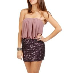 Purple Drape Sequin Tunic