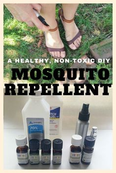 A Healthy, Non-Toxic DIY Mosquito Repellent - After seeing what she sprays on her feet, I will never buy this in the store again!