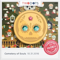I picked up the Gilded Calavera at the Cemetery of Souls. - playtwo.do/ts #TwoDots