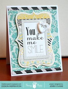 Smile card *Fancy Pants Designs* - Scrapbook.com