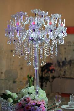 ZT-184 Georgeous crystal table chandelier H110xW74 Q. 4,200.00 o $600.00