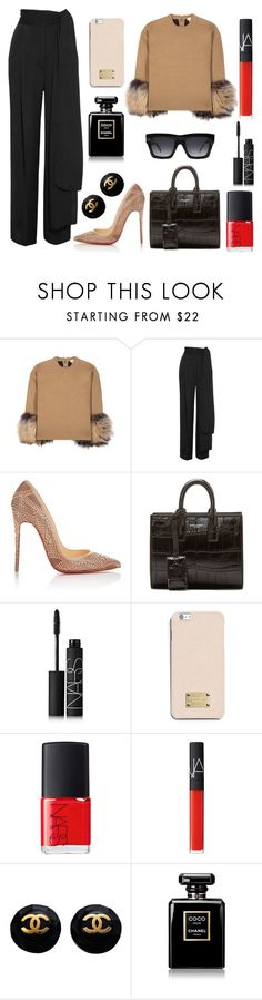 """Like a rich"" by amode ❤ liked on Polyvore featuring Michael Kors, Lanvin, Christian Louboutin, Yves Saint Laurent, NARS Cosmetics, MICHAEL Michael Kors, Chanel and CÉLINE"