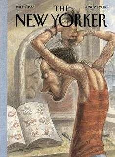 "The New Yorker - Monday, June 26, 2017 - Issue # 4692 - Vol. 93 - N° 18 - Cover ""Topknot"" by Peter de Sève"