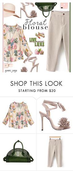 """"""" Floral Blouse """"  - """"Zaful"""" by goreti ❤ liked on Polyvore featuring CUSTO LINE and Aroma"""