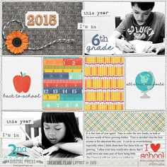Project Twenty Fifteen Journal Cards, Kit and Templates Vol 1. by Laura Passage   Also School Days Mobile Ready Fonts and Stamps by Laura Pasage
