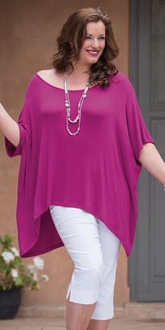 Join Clothes fuchsia knitted top