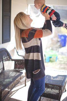 BlueSand Cardigan pattern by La Maison Rililie: FO by mamatcha on ravelry (+ a supercute matching baby!!!)