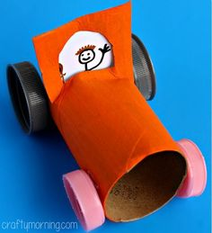 Simple Toilet Paper Roll Car Craft for Kids - Crafty Morning