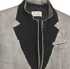 artisanal painted jacket  martin margiela