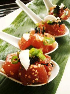 Hawaiian Ahi Poke -- there is no true Hawaii without a little poke.  bigislandreale.com ... just sayin'
