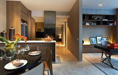 SCDA Echelon, Singapore Cabinet detail for pantry facing dining