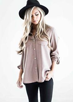 soft button up shirt, fall style, fall outfit, womens fashion, shop jessakae
