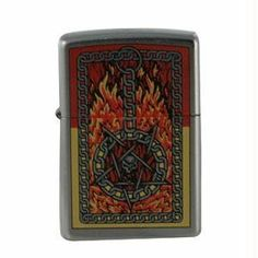 Zippo Street Chrome, Burning Chains by Zippo. $29.95. ATTRIBUTES Finish/Material: Street Chrome Fuel: Lighter Fluid Graphic: Burning Chains Special Features: Windproof