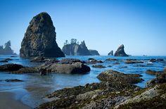 Shipwreck Coast/Shi Shi Beach Trail, Olympic Peninsula, Washington - 20 to 70 miles