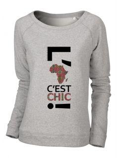 Chic sweat-shirt femme modèle MAILLAGE ETHNIQUE 100% coton. Coupe standard avec des finitions cotelées au niveau du col et des manches.#sweatshirt #urbanchic #africaninspiration #lafriquecestchic #itpiece #spingsummer15 #parisianstyle #londonstyle #nystyle #workwear #dailyswag #dailychic #streetstyle