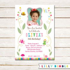 40% off Magical Garden Birthday Party Invitation by LillyBimble