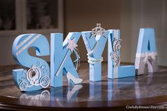 Baby Shower Centerpieces For Girls Princess Blue 27 Ideas Cinderella Decorations, Cinderella Centerpiece, Name Decorations, Baby Shower Decorations For Boys, Baby Shower Centerpieces, Birthday Party Decorations, Birthday Parties, Cinderella Baby Shower, Cinderella Sweet 16